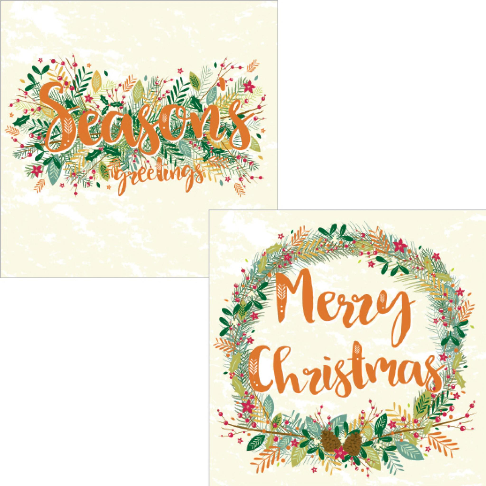 Christmas Wishes Card.Luxury Christmas Card Pack Christmas Wishes