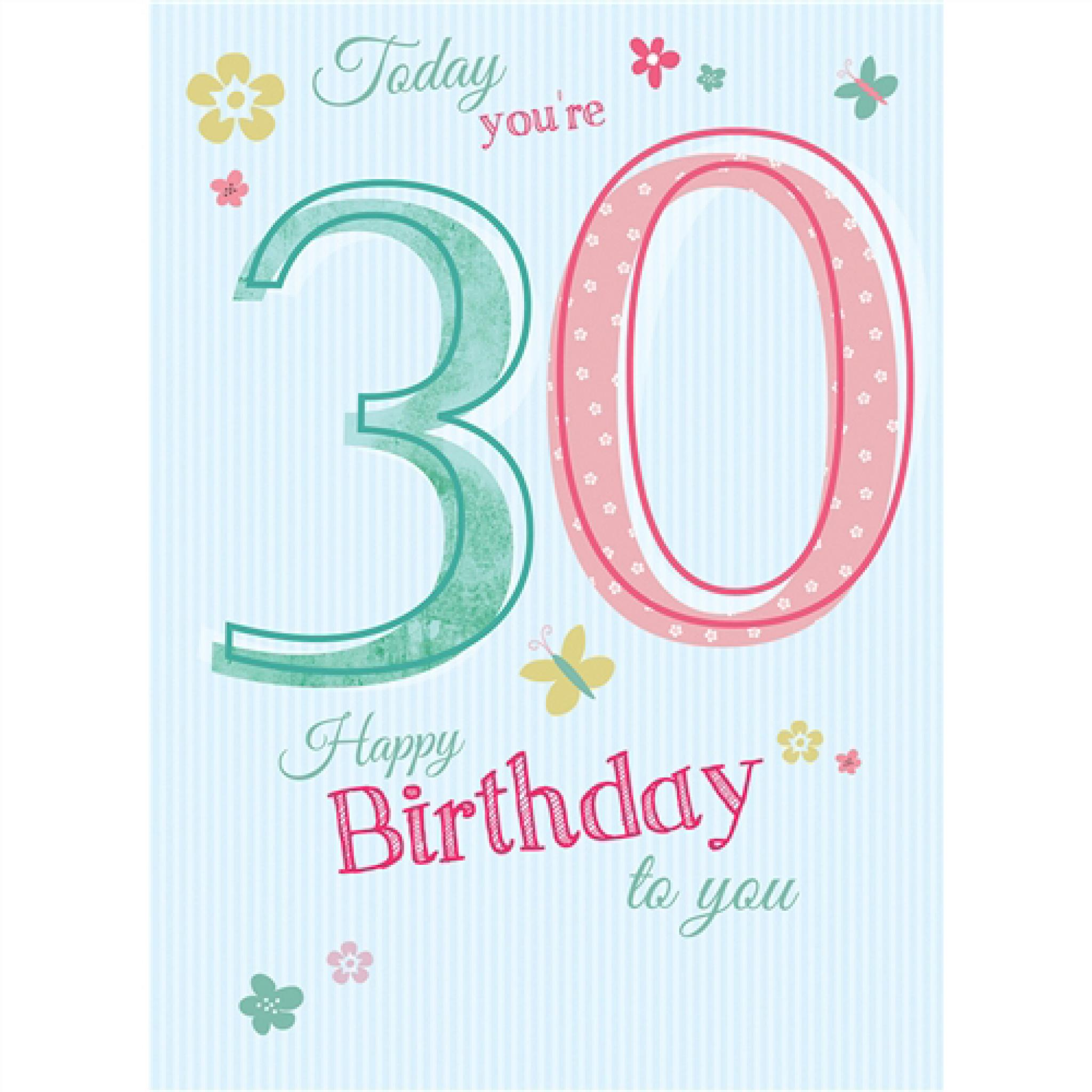 Groovy Special Birthdays Card 30 Female Personalised Birthday Cards Paralily Jamesorg