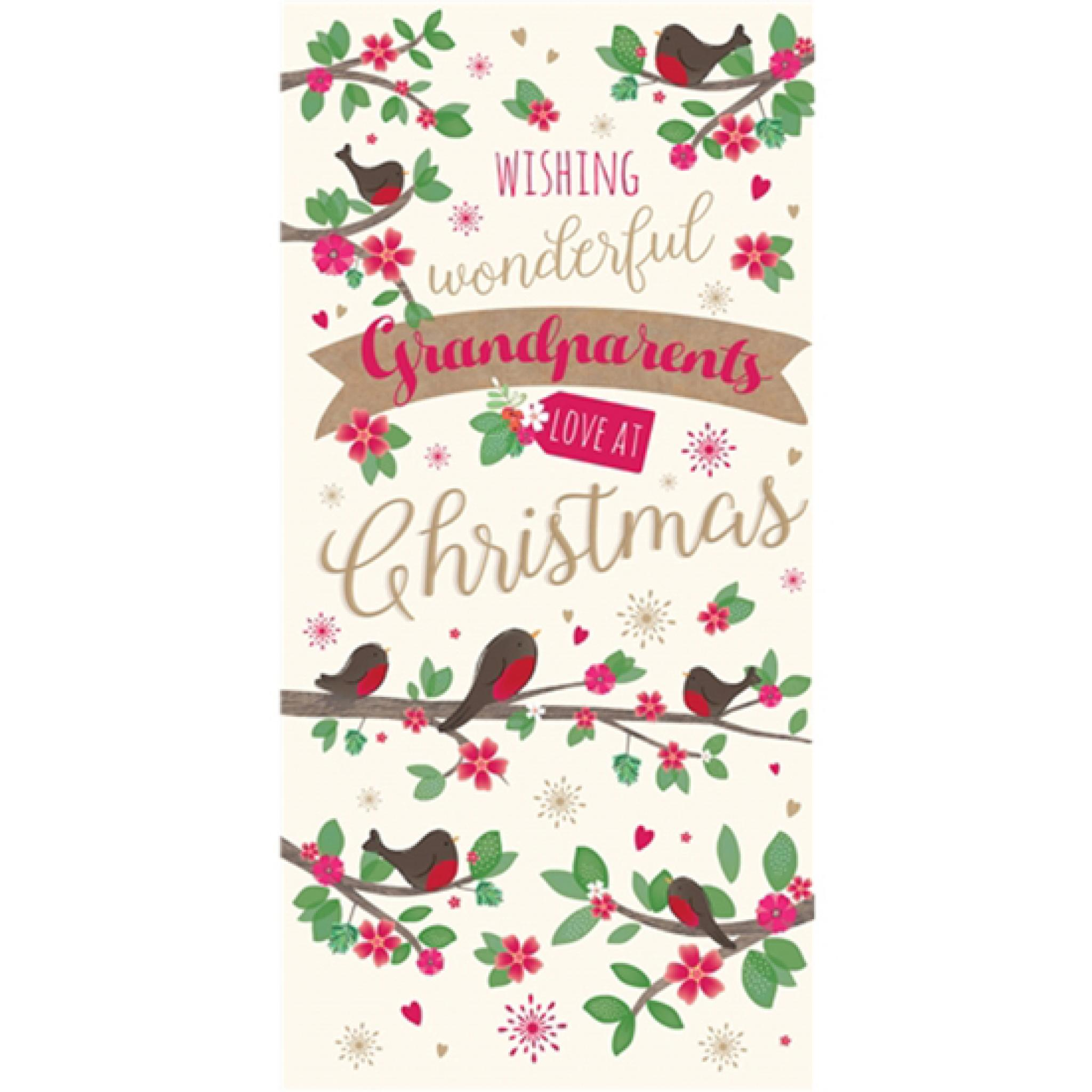 Single At Christmas.Christmas Card Single Grandma Granddad Grandparents