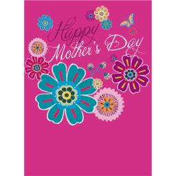 Mother's Day Card - Retro Flowers