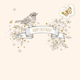 Feuille d'or Card Collection - Bird & Flowers