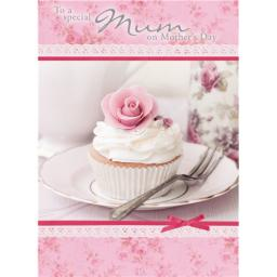 Mother's Day Card - Rose Cupcake