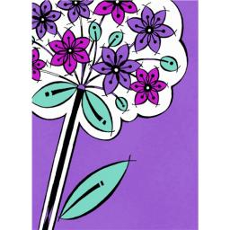 Marie Curie Card (Range 1) - Purple Posy
