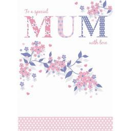Family Circle Card - Purple Patterns (Mum)