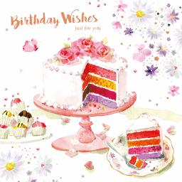 Birthday Treats Card Collection - Party Cake