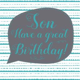 Family Circle Card - Birthday Text (Son)