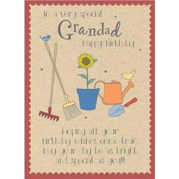Family Circle Card - Garden Tools (Grandad)