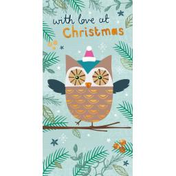 Christmas Card (Single) - Money Wallet - Owl