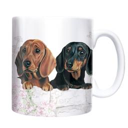 Straight Sided Mug - Dachshunds