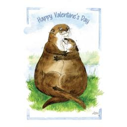 Valentines Day Card - My Otter Half