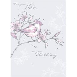 Family Circle Card - Bird On Branch (Nan)
