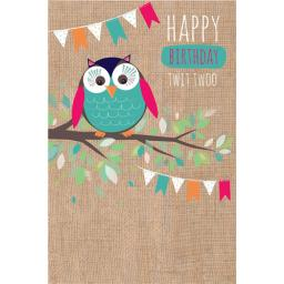 Dinkies Mini Card - Twit Twoo
