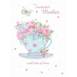 Mother's Day Card - Flowers In A Cup