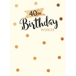Age To Celebrate Card - 40 Text & Spots