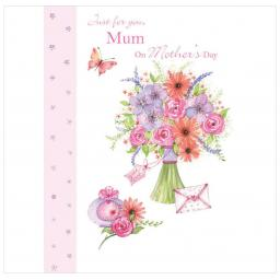 Mother's Day Card - Butterfly & Vase