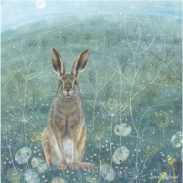 Enchanted Wildlife Card - Hare