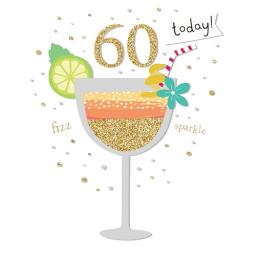 Age To Celebrate Card - 60 Cocktail Glass