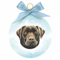Baubles - Chocolate Labrador