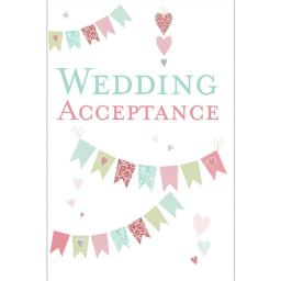 Wedding Acceptance Card - Bunting