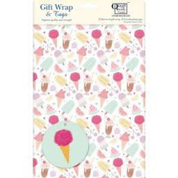 Gift Wrap & Tags - Ice Cream Treats