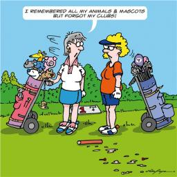 A Bunch Of Stuff Card - Golf Mascots