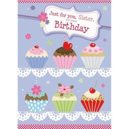 Family Circle Card - Cupcakes (Sister)