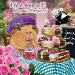 Crazy Crew Card - Tea & Cake (Birthday)