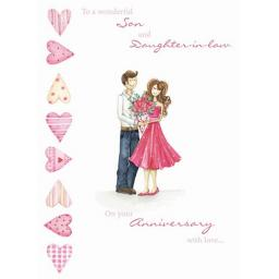 Anniversary Card - Sweet Couple (Son & Daughter In Law)