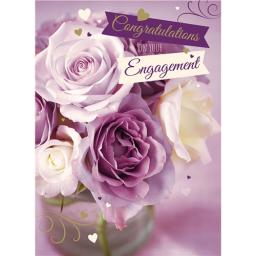 Engagement Card - Roses & Text