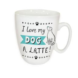 Curved Mug - I love My Dog