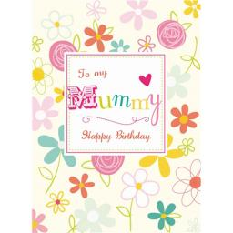 Family Circle Card - Flower Border (Mummy)