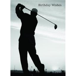 First Class Male Card - Morning Golfer
