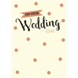 Wedding Card - Text & Confetti