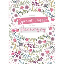 Anniversary Card - Anniversary Flowers (Special Couple)