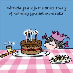Little Else Card - Eat More Cake