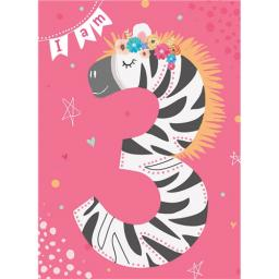 Rainbow Pops Card Collection - Zebra (Age 3)