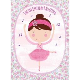 Hip Hip Hooray Card - Belle The Ballerina