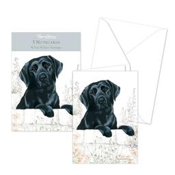 Pollyanna Pickering Stationery - Notecard Pack -Black Labrador