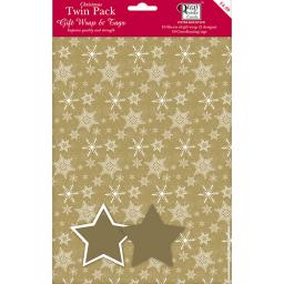 Christmas Wrap & Tags Bumper (Twin) Pack - Golden Christmas