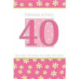 Age To Celebrate Card - 40 Fabulous At Forty