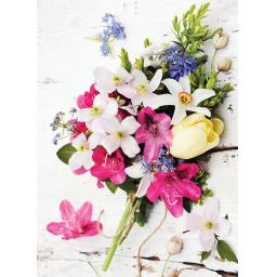 Beautiful Blanks Card - Spring Posy