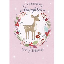Christmas Card (Single) - Daughter - Christmas Deer
