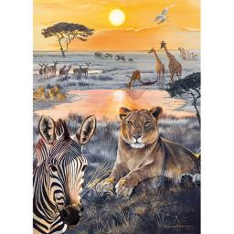 Rectangular Jigsaw - Safari Sundown