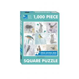 Square Jigsaw - RSPB Petals & Perches