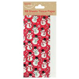 Christmas Tissue Pack - Snowman & White