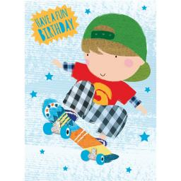 Hip Hip Hooray Card - Skater Dude