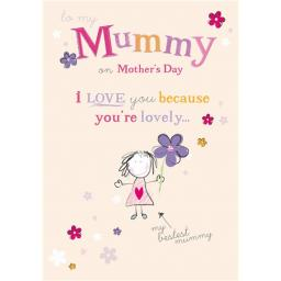 Mother's Day Card - Bestest Mummy