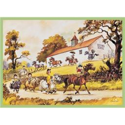 Thelwell Card - Riding School