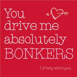 Valentines Day Card - Bonkers (Open)