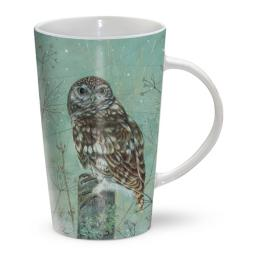 Latte Mug - Little Owl 'Look Out'